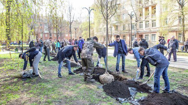 Воронежские депутаты посадили аллею в честь 25-летия парламента региона