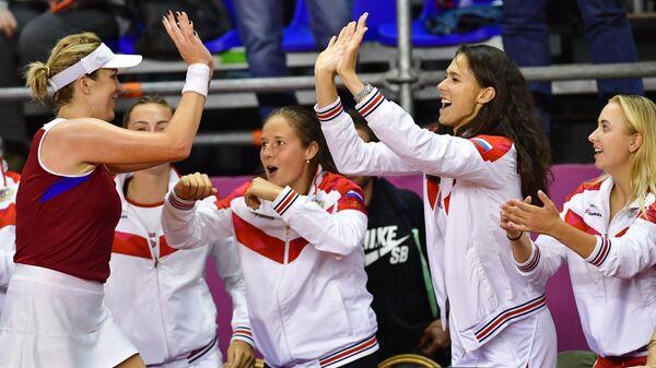 Российские теннисистки поздравляют Анастасию Павлюченкову