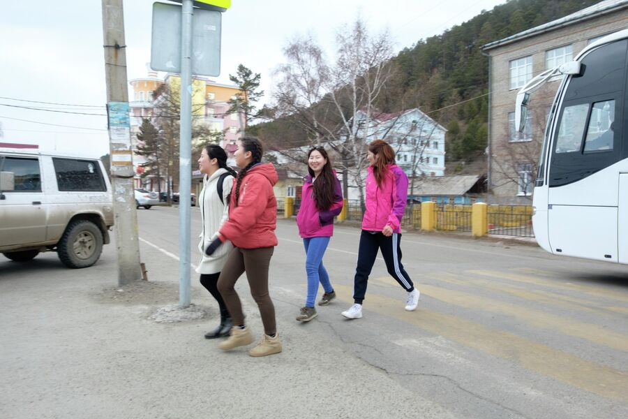 На улице в Листвянке