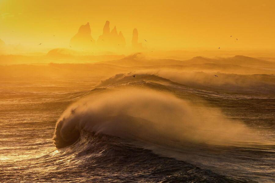 Исландия, пляж Ренисфьяра