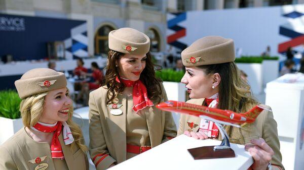 Участницы конкурса красоты Sky Lady 2019 в Москве