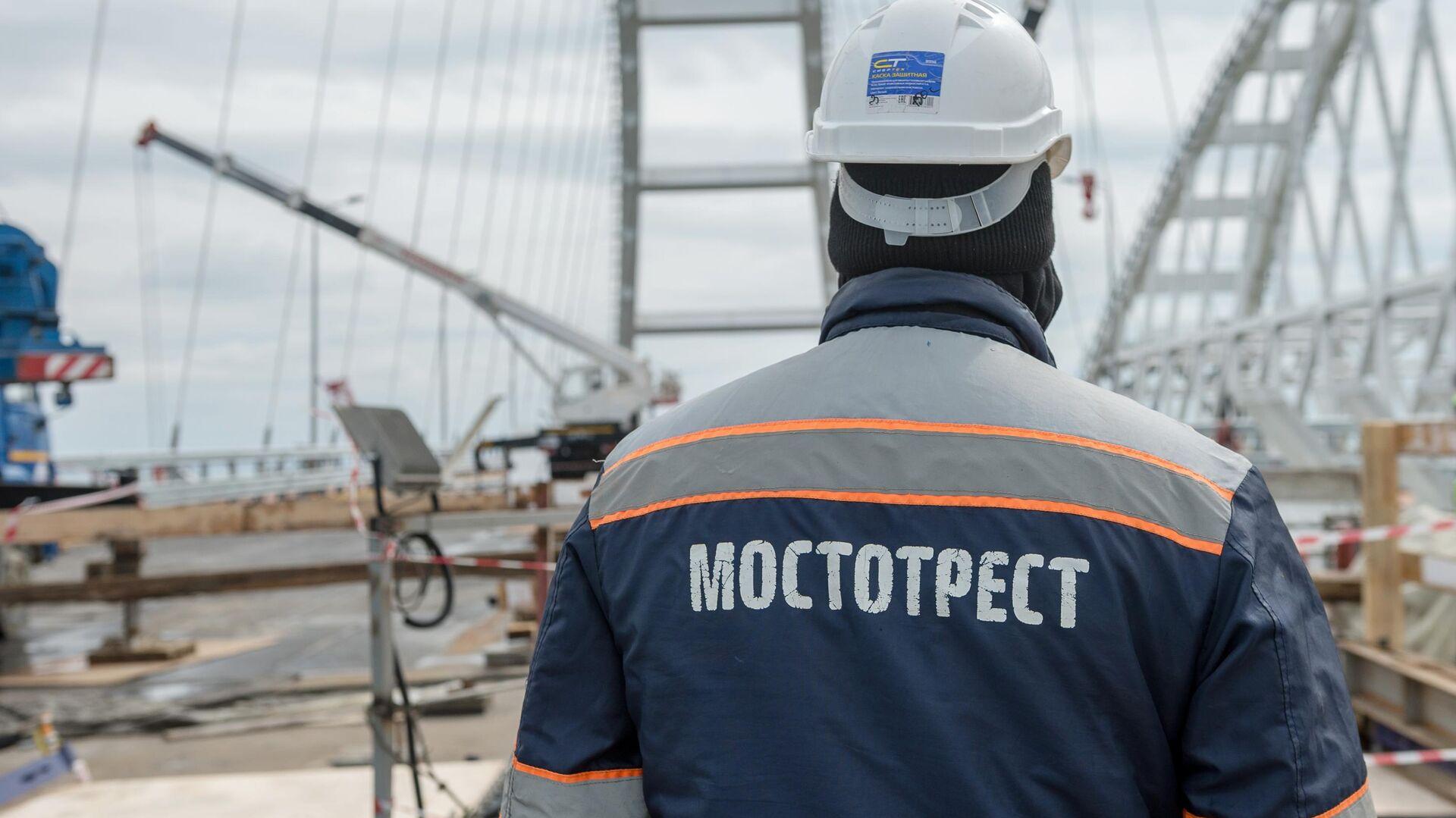 Строительство Крымского моста - РИА Новости, 1920, 05.04.2021