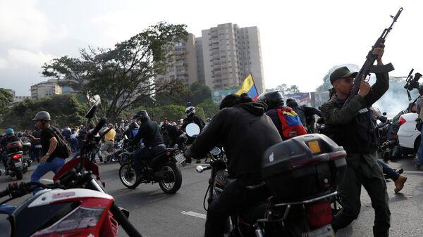 Ситуация рядом с авиабазой La Carlota в Каракасе. 30 апреля 2019