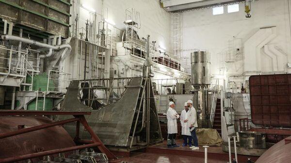 Помещение перегрузки ядерного топлива плавучего энергоблока (ПЭБ) Академик Ломоносов