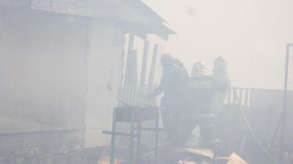 Тушение огня в Курганской области. 4 мая 2019