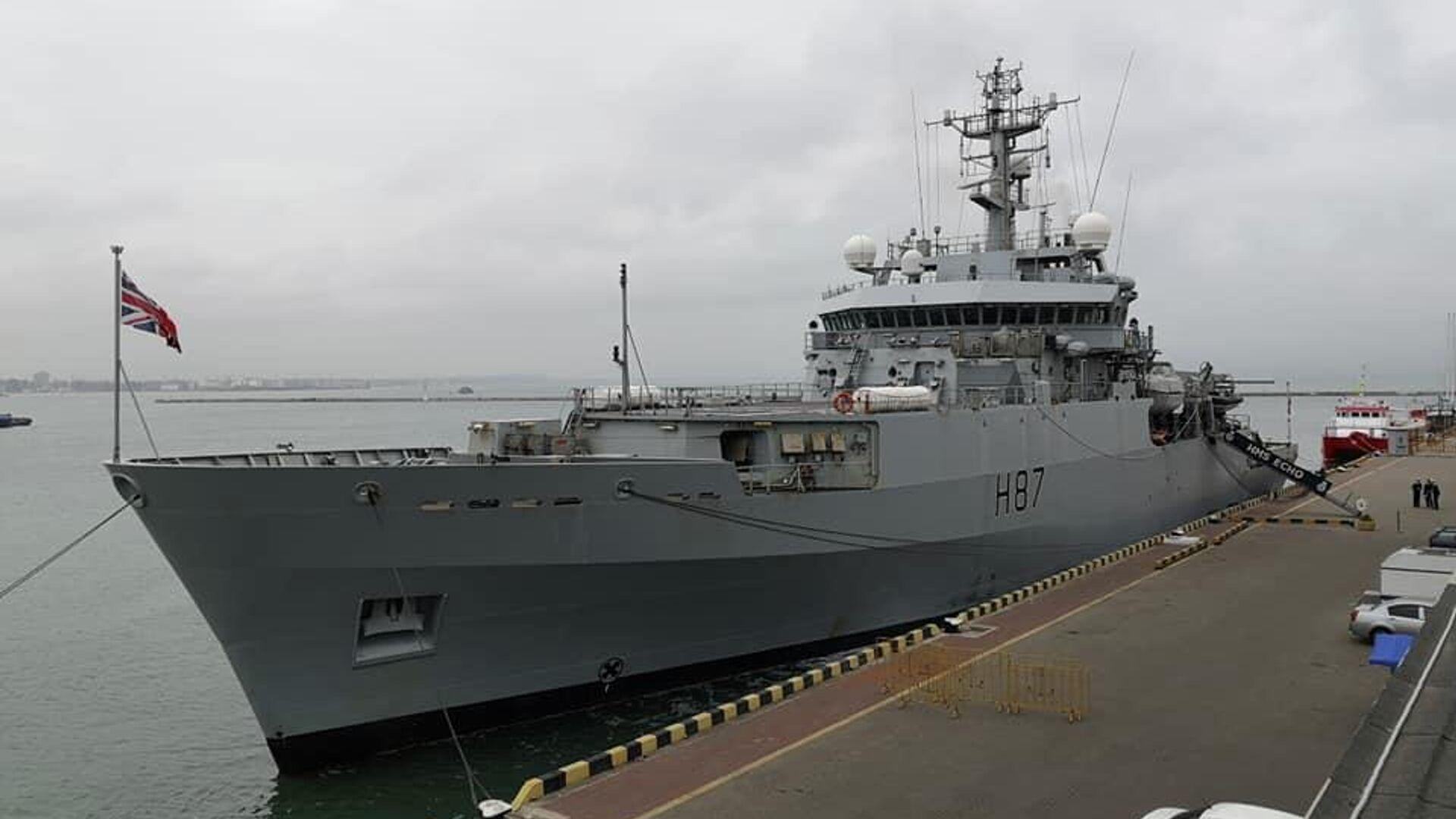 Гидрографический корабль ВМС Великобритании ЕCHO (Эхо) в порту Одессы - РИА Новости, 1920, 12.03.2021