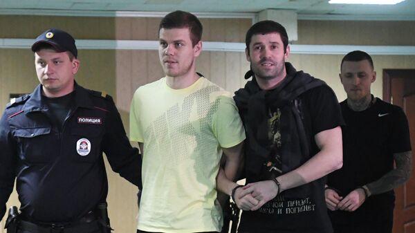 Павел Мамаев, Александр Протасовицкий и Александр Кокорин (справа налево)