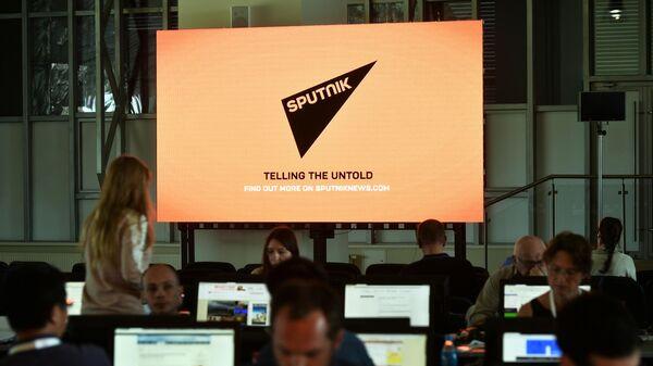 Логотип международного агентства и радио Sputnik