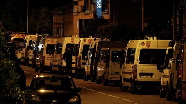 Полиция на месте захвата заложников в коммуне Бланьяк под Тулузой