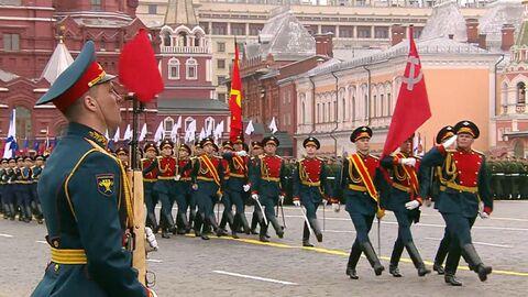 Парад в российских городах в День Победы