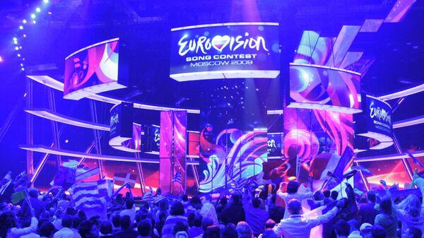 В зале СК Олимпийский во время финала конкурса Евровидение-2009