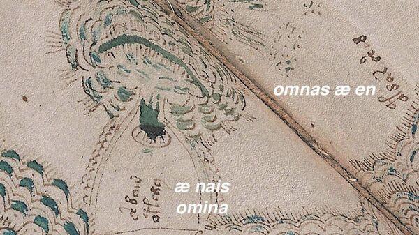 Одна из расшифрованных страниц манускрипта Войнича, повествующая об извержении вулкана на острове Вулькано