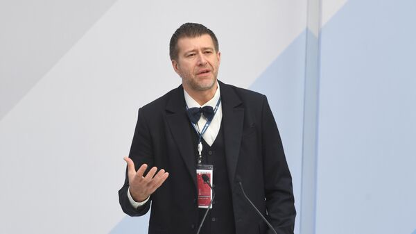 Министр юстиции РФ Александр Коновалов выступает на церемонии вручения премии IX Петербургского международного юридического форума в области частного права