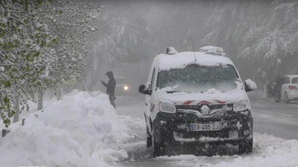 В ночь на 15 мая на Корсике прошел сильный снегопад
