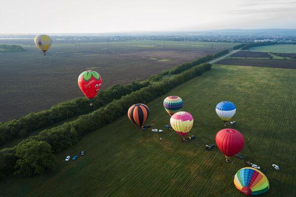 Воздушные шары на фестивале воздухоплавания Небесная ривьера в Краснодарском крае