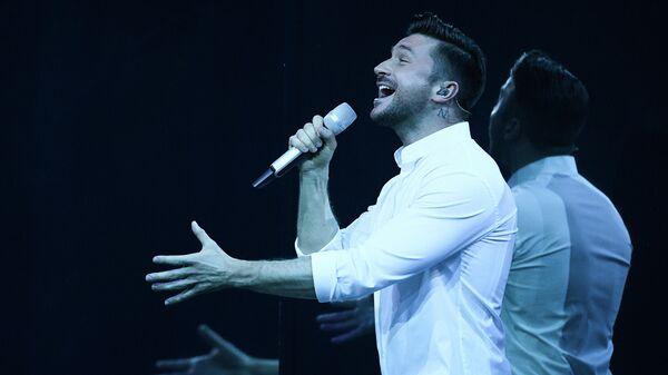 Певец Сергей Лазарев во время финала международного конкурса Евровидение-2019