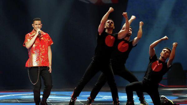 Певец Махмуд (Италия) в финале международного конкурса Евровидение-2019