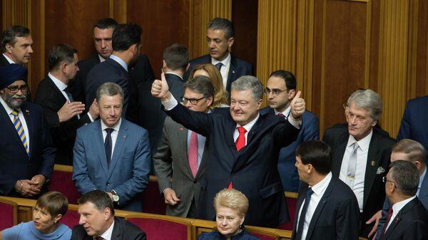 Петр Порошенко на инаугурации президента Украины Владимира Зеленского