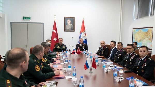 Глава Росгвардии Виктор Золотов во время визита в Турцию. Рабочая встреча с представителями МВД и жандармерии