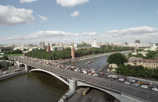 Вид на Кремль и центр Москвы. Архив