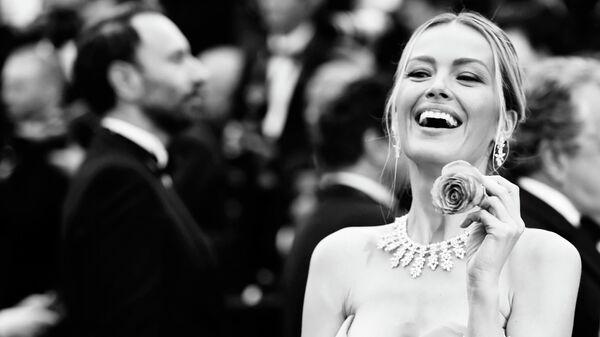 Чешская модель и актриса Петра Немцова на красной дорожке премьеры фильма Тайная жизнь (A Hidden Life) в рамках 72-го Каннского международного кинофестиваля