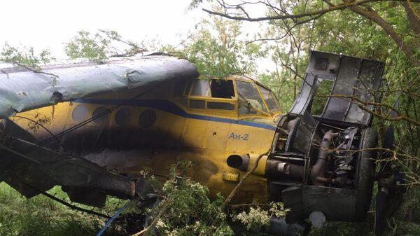 Самолет Ан-2 выехал за пределы ВПП в Новоселицком районе Ставрополья на аэроплощадке, принадлежащей колхозу им. 1Мая в селе Журавское. 22 мая 2019