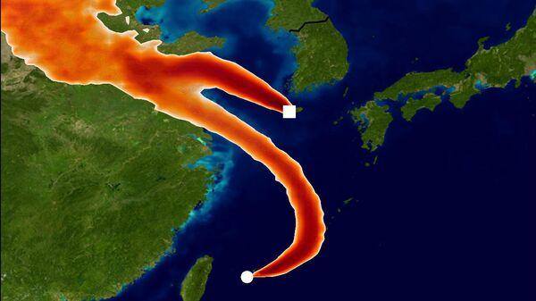 Фреоновый след из Китая, зафиксированный метеостанциями в Корее и Японии