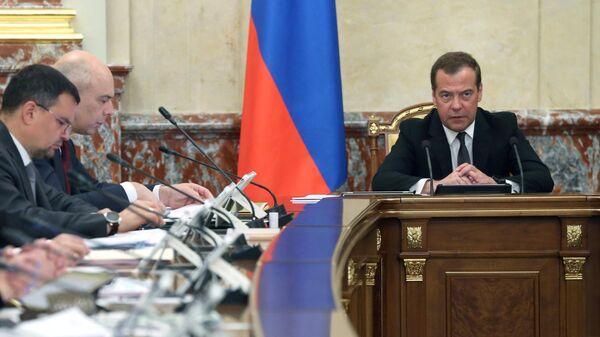 Председатель правительства РФ Дмитрий Медведев проводит заседание правительства РФ. 23 мая 2019