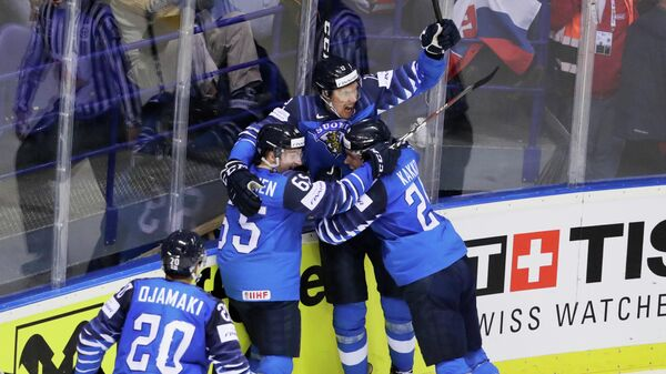 Хоккеисты сборной Финляндии