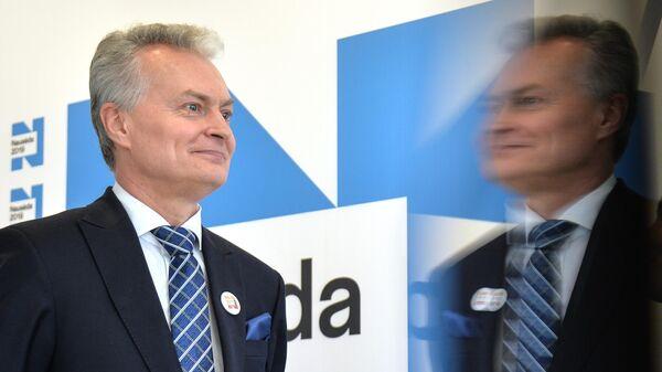 Кандидат в президенты Литвы, экономист Гитанас Науседа