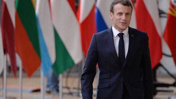 Президент Франции Эммануэль Макрон перед началом неформального ужина глав государств и правительств ЕС в Брюсселе. 28 мая 2019