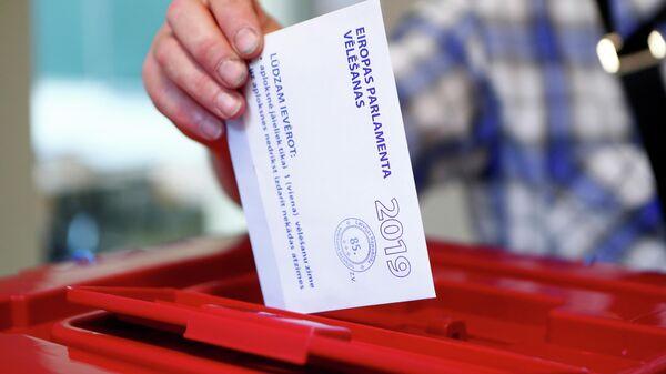 Голосование на выборах в Европейский парламент в Риге, Латвия