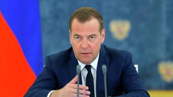 Председатель правительства РФ Дмитрий Медведев проводит заседание правительства РФ. 29 мая 2019