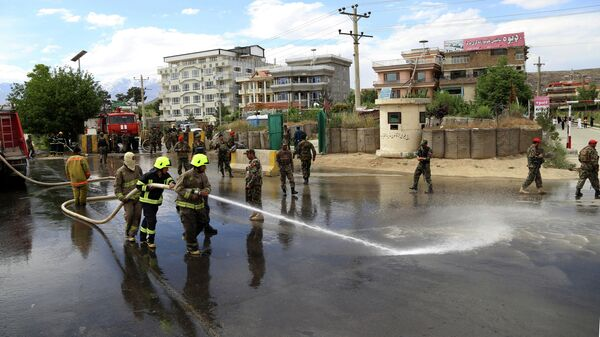 Место взрыва в Кабуле