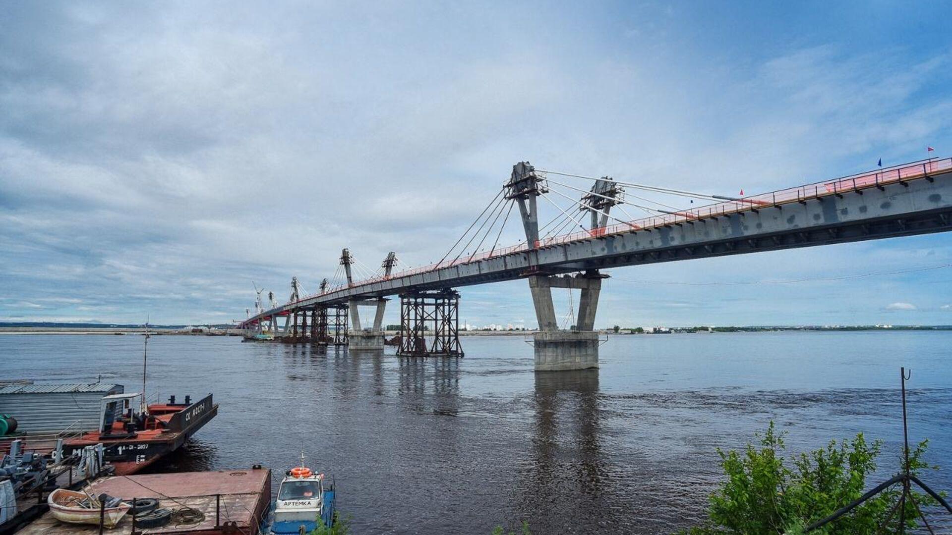 Стыковка международного моста Благовещенск - Хэйхэ. 31 мая 2019 - РИА Новости, 1920, 10.06.2020