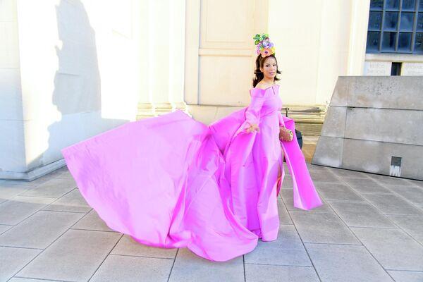Модель Вероника Уэбб на церемонии вручения премии Совета модельеров Америки
