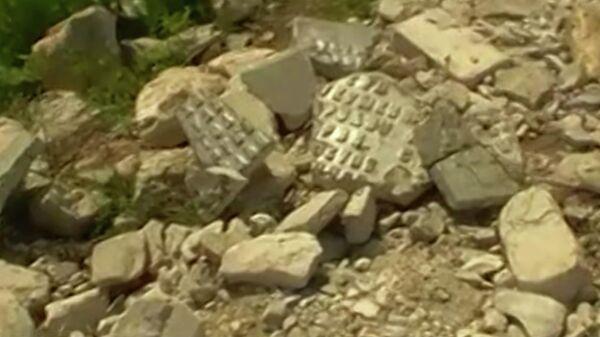 Обломки памятника участникам Великой Отечественной войны в села Фундыково Нижегородской области