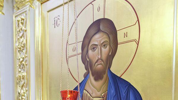 Икона Спасителя, храм Ксении Блаженной в Петербурге