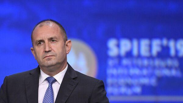 Президент Болгарии Румен Радев на пленарном заседании Петербургского международного экономического форума 2019