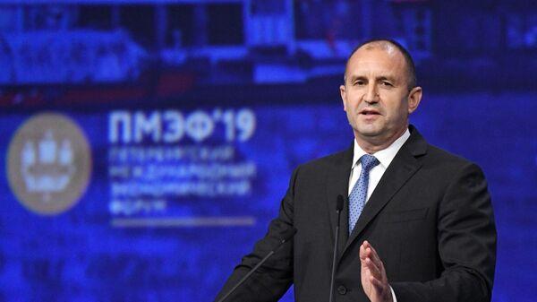 Президент Болгарии Румен Радев на Петербургском международном экономическом форуме. День второй