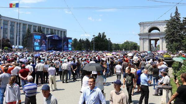 Акции протеста в Кишинёве. 9 июня 2019