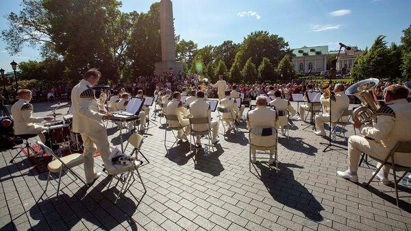 Выступление Президентского оркестра Службы коменданта Московского Кремля Федеральной службы охраны Российской Федерации