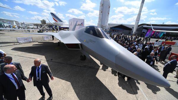 Полноразмерный макет новейшего турецкого истребителя пятого поколения TF-X на международном аэрокосмическом салоне Paris Air Show 2019