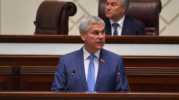 Владимир Андрейченко на 56-й сессии парламентского собрания Союзного государства России и Белоруссии в Минске