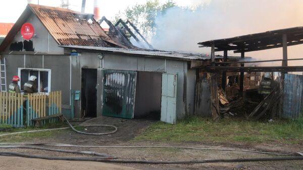 Пожар в городе Каменске-Уральском