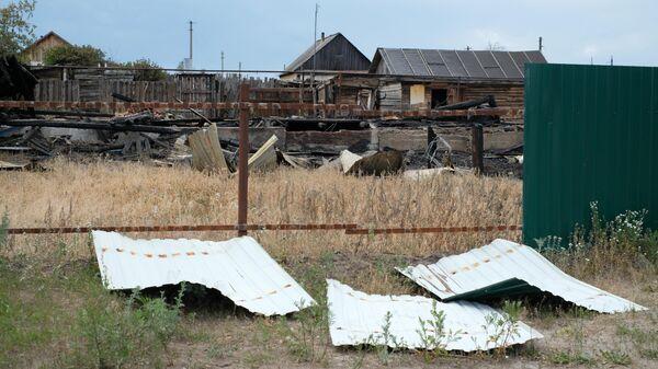 Сгоревший дом в селе Лопатки
