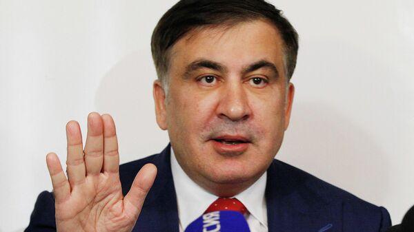 Михаил Саакашвили во время беседы с журналистами