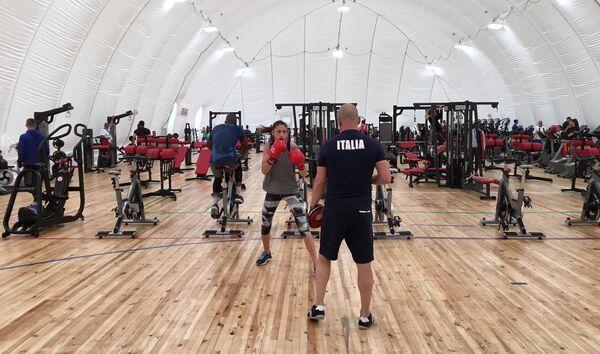 Тренировка в Деревне атлетов