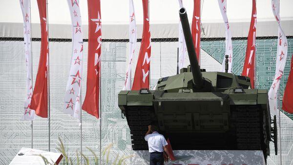 Танк Т-14 Армата на Международном военно-техническом форуме Армия-2019