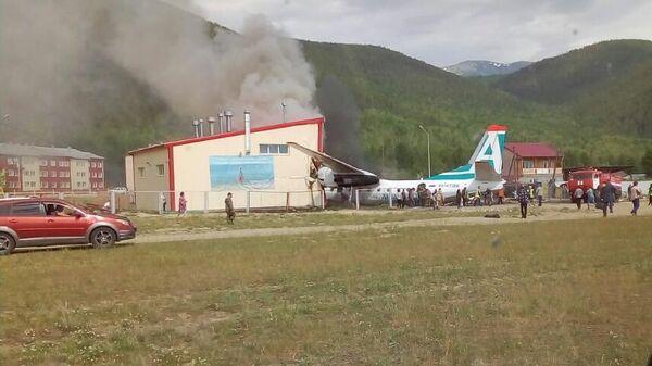 Пассажирский самолет Ан-24 авикомпании Ангара совершил аварийную посадку в аэропорту Нижнеангарска